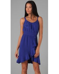 Rebecca Taylor - Blue Ruffle Front Cami Dress - Lyst
