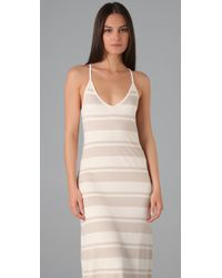 Club Monaco - Natural Valeria Striped Maxi Dress - Lyst