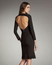 Zac Posen   Black Laser-cut Open-back Dress   Lyst