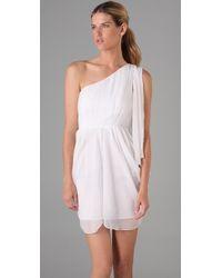 Alice + Olivia - White Kellye One Shoulder Dress - Lyst