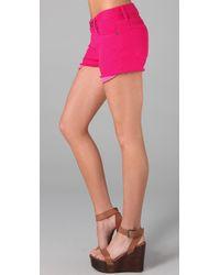 Current/Elliott - Pink The Boyfriend Shorts - Lyst