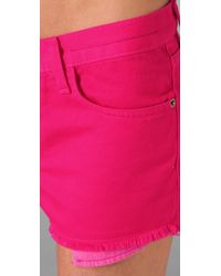 Current/Elliott | Pink The Boyfriend Shorts | Lyst