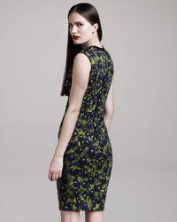 Givenchy - Black Pansy-print Jersey Dress - Lyst