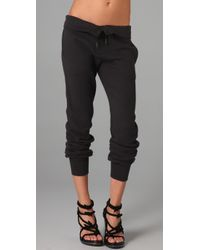 T By Alexander Wang | Black T By Alexander Enzyme Washed French Terry Sweatpants | Lyst