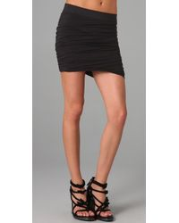 T By Alexander Wang | Black Rusched Skirt | Lyst