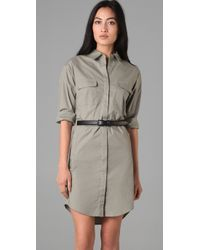 Theory | Green Meliba Shirt Dress | Lyst