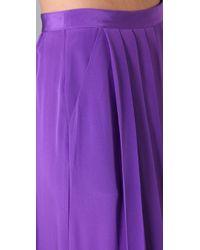 Tibi - Purple Long Pleated Skirt - Lyst