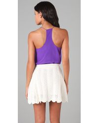 Tibi - Purple Silk Camisole Racer Back Top - Lyst