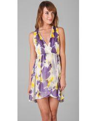 Alice + Olivia - Multicolor Connley V Neck Dress - Lyst