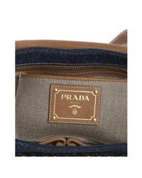 Prada - Blue Denim Shoulder Bag - Lyst