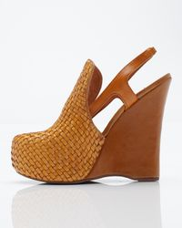 Jeffrey Campbell | Yellow Darian Woven Front Wedge | Lyst