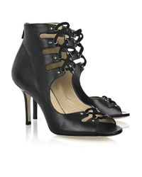 Jimmy Choo | Black Adore Lace-front Sandals | Lyst