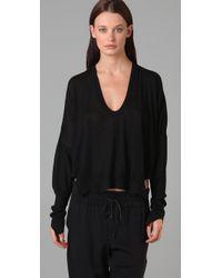 Alexander Wang - Black Drapey Pullover Sweater - Lyst