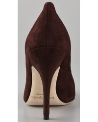 kate spade new york | Brown Licorice Suede Pumps | Lyst