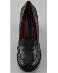 Marc By Marc Jacobs   Black High Heel Penny Loafers   Lyst