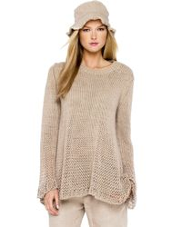Michael Kors - Natural Chunky Hand Knit Sweater - Lyst