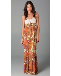 Torn By Ronny Kobo | Orange Robyn Paisley Maxi Dress | Lyst