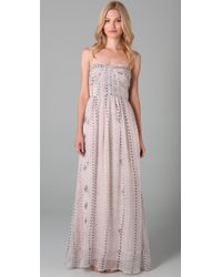 Twelfth Street Cynthia Vincent | Pink Mayan Shirred Corset Maxi Dress | Lyst