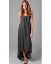 Lanston | Gray Knit Maxi Dress | Lyst