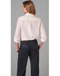 Marc By Marc Jacobs - White Cotton Silk Rex Button Front Blouse - Lyst