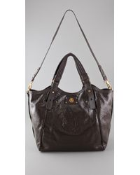 Marc By Marc Jacobs | Quilted Logo Tote - Black | Lyst