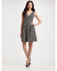 Nanette Lepore - Black County Fair Printed V-neck Dress - Lyst