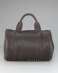 Alexander Wang | Brown Rocco Leather Satchel | Lyst