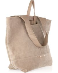 Alexander Wang - Natural Alpha Leather and Suede Shopper - Lyst