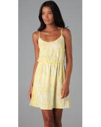 Alice + Olivia - Yellow Elizabeth Tank Dress - Lyst