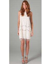 BCBGMAXAZRIA | White Simona Embroidered Dress | Lyst