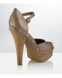 Carvela Kurt Geiger | Brown Acorn Patent Leather Platform | Lyst