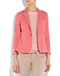 Current/Elliott - Pink The Academy Cotton-twill Blazer - Lyst