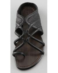 Joe's Jeans | Black Moon Flat Sandals | Lyst