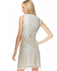Michael Kors | Natural Lace Sheath Dress | Lyst
