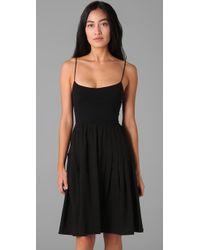 Theory - Black Faymon Linen-blend Dress - Lyst