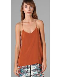 Tibi | Brown Racer Back Camisole | Lyst
