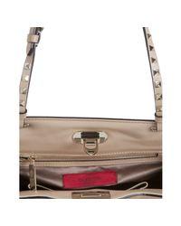 Valentino | Natural Rockstud Leather Shoulder Bag | Lyst