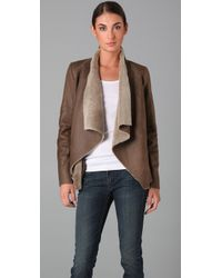 Vince | Brown Cascade Shearling Jacket | Lyst