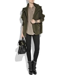 Vince - Green Wool-blend Hooded Anorak - Lyst