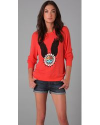 Wildfox | Pink Eagle Dream Beach Sweatshirt | Lyst