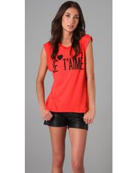 Wildfox | Red Je Taime Dylan Tee | Lyst