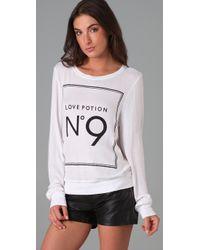 Wildfox - White Love Potion No. 9 Beach Sweatshirt - Lyst
