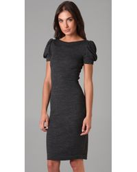 DSquared² - Gray Puff Sleeve Dress - Lyst