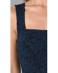 Free People - Blue Floral Pucker Dress - Lyst