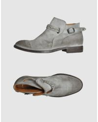 HTC | Gray Officer Boots | Lyst