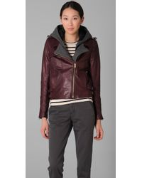 A.L.C.   Red Helven Leather Jacket   Lyst