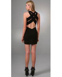 Alexander Wang - Black Ponte Dress with Crisscross Back - Lyst