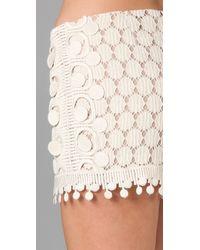 Anna Sui | Natural Circle Lace Shorts | Lyst