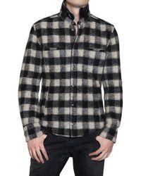 Dolce & Gabbana | White Reversible Tartan Wool Shirt Jacket for Men | Lyst