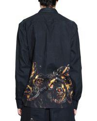Givenchy - Black Rottweiler Felted Gabardine Shirt for Men - Lyst